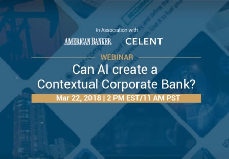 WEBINAR: Can AI create a Contextual Corporate Bank?